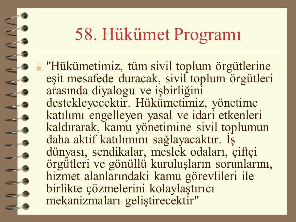 58. Hükümet Programı