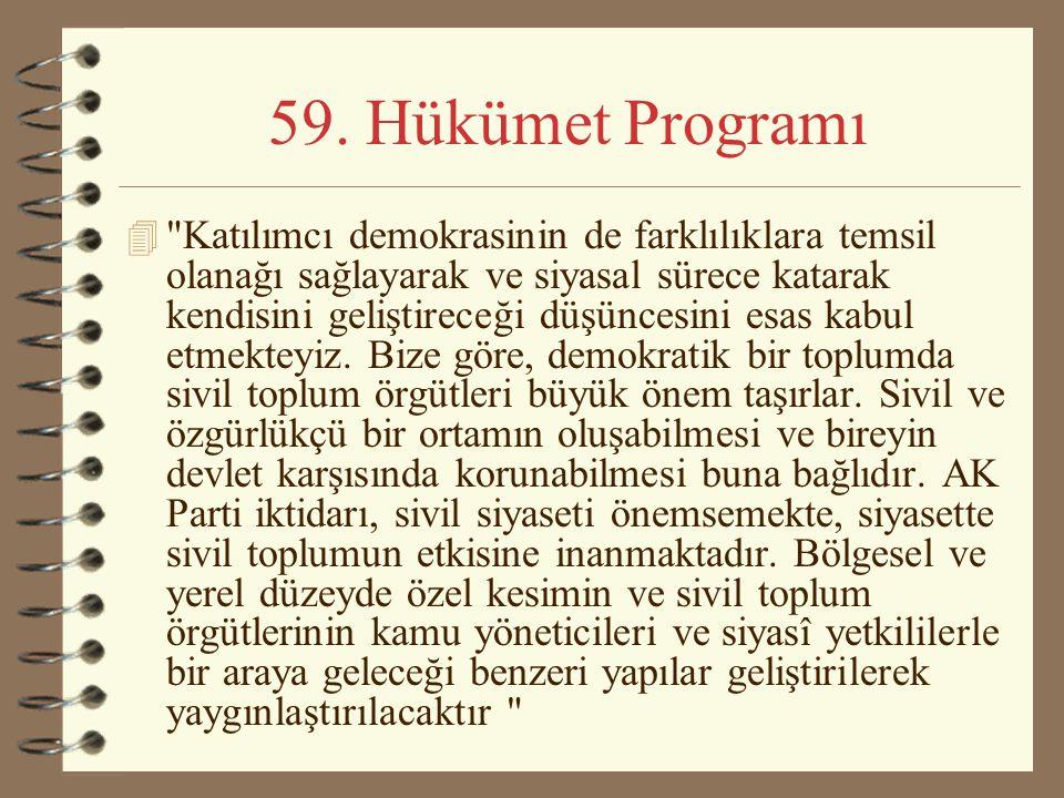 59. Hükümet Programı
