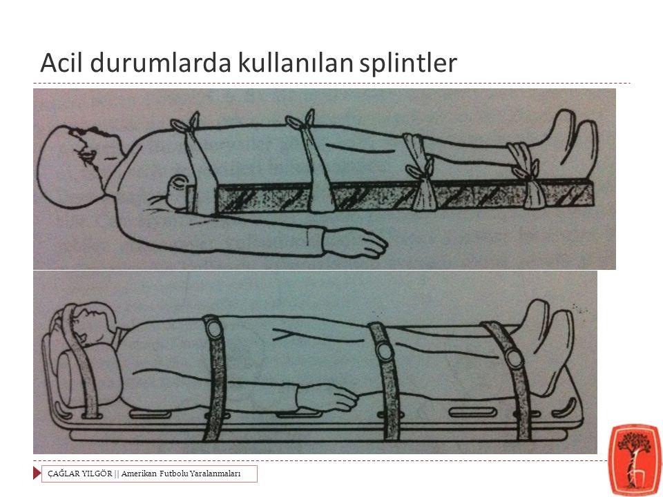 Acil durumlarda kullanılan splintler