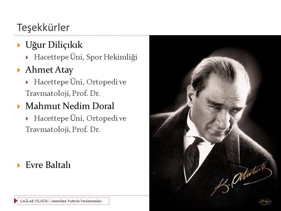 Teşekkürler Uğur Diliçıkık Ahmet Atay Mahmut Nedim Doral Evre Baltalı