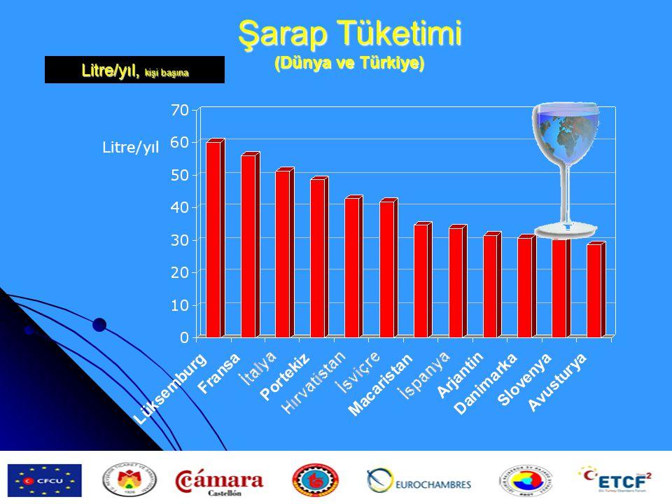 Şarap Tüketimi (Dünya ve Türkiye)