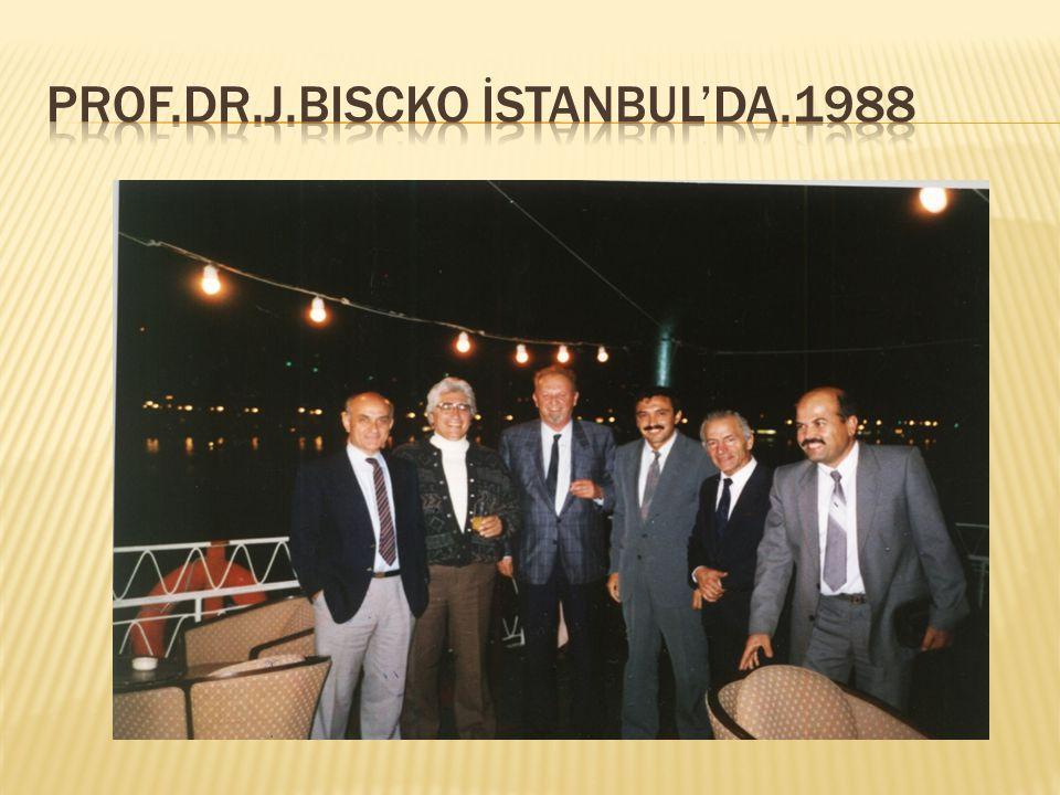 Prof.Dr.J.BISCKO İstanbul'da.1988