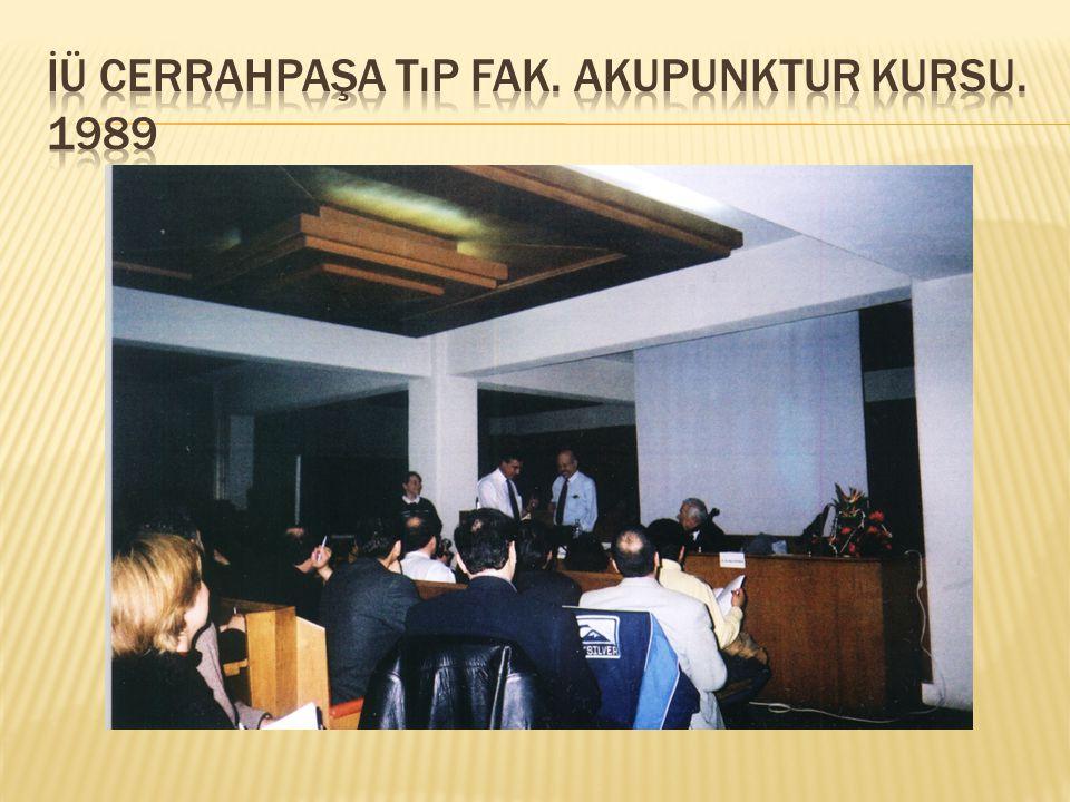 İÜ Cerrahpaşa Tıp fak. Akupunktur kursu. 1989