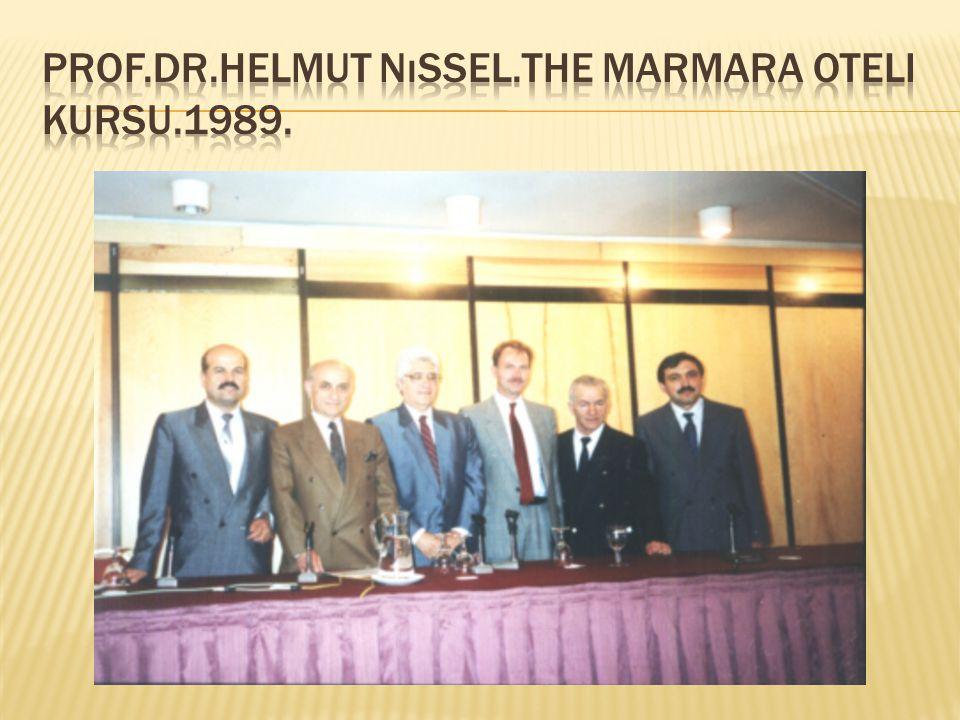 Prof.Dr.Helmut nıssel.The Marmara oteli kursu.1989.