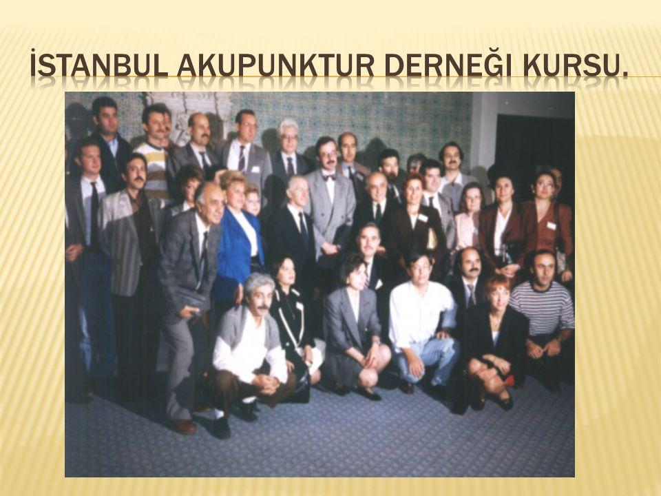 İstanbul Akupunktur derneği kursu.