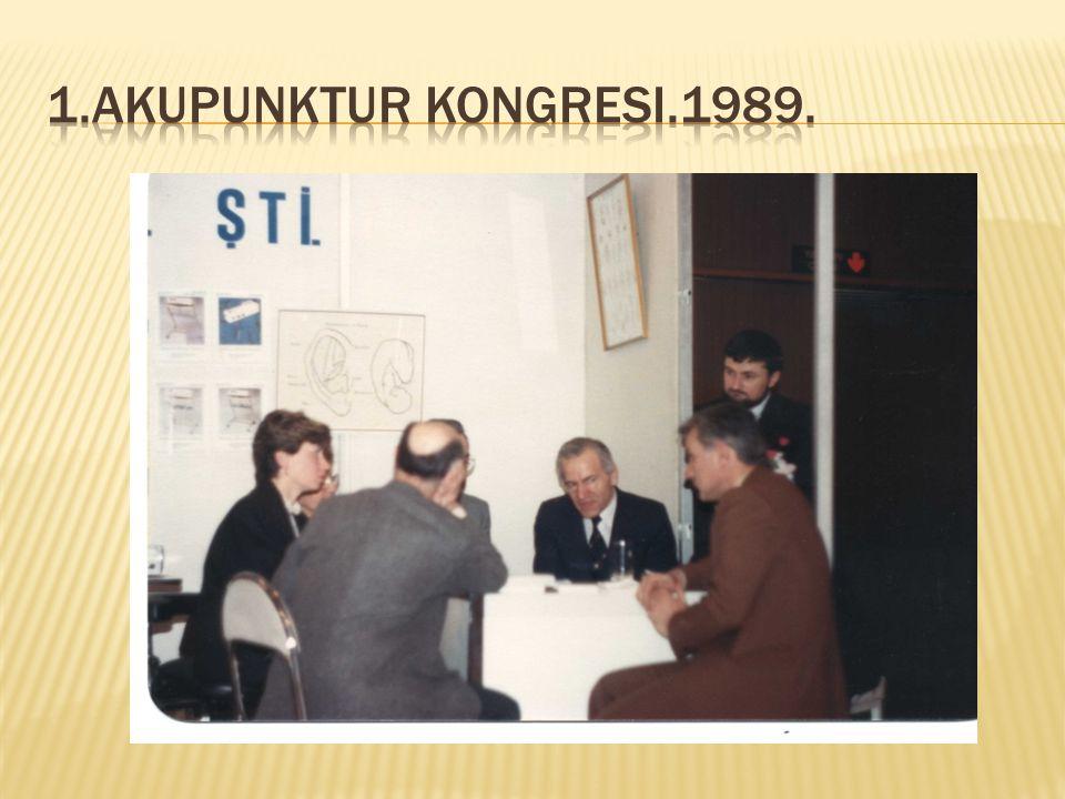 1.Akupunktur kongresi.1989.