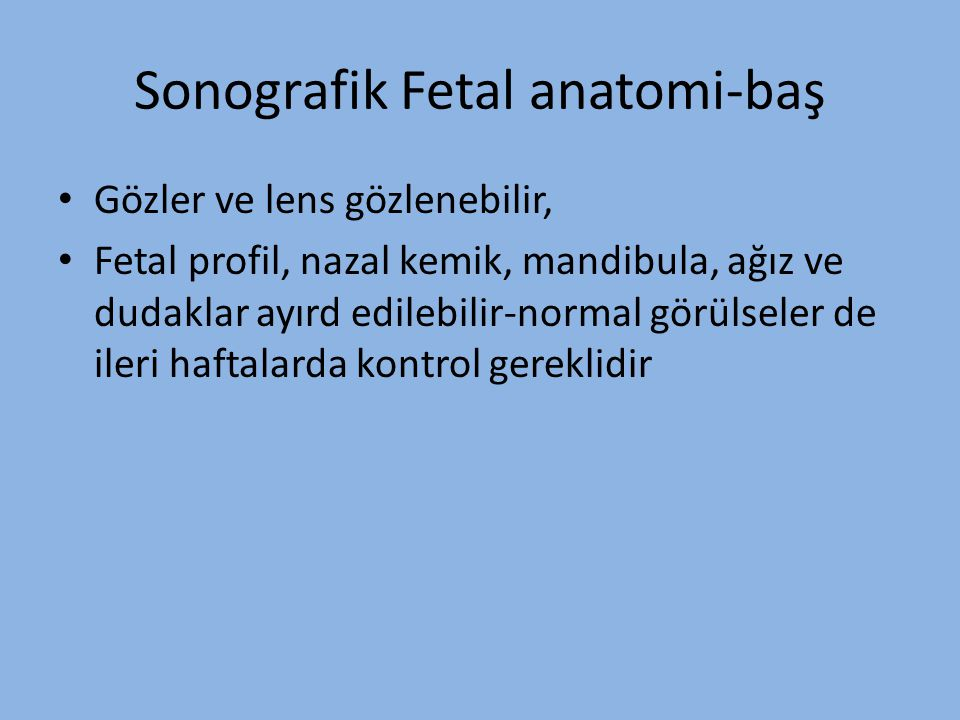 Sonografik Fetal anatomi-baş