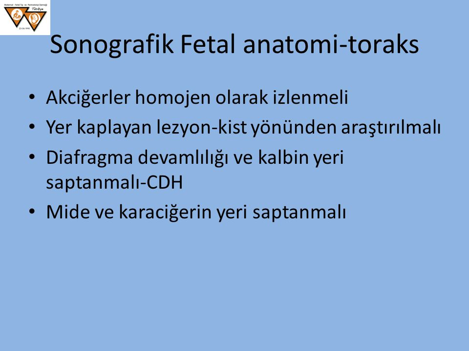 Sonografik Fetal anatomi-toraks