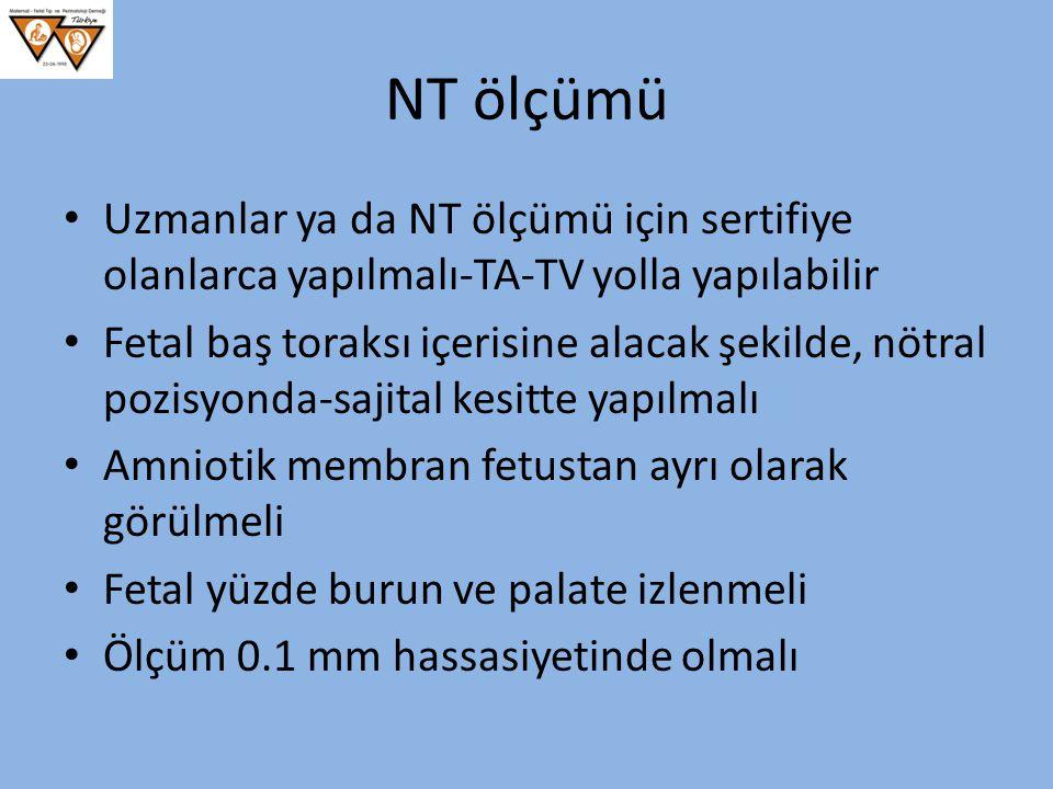 NT ölçümü Uzmanlar ya da NT ölçümü için sertifiye olanlarca yapılmalı-TA-TV yolla yapılabilir.