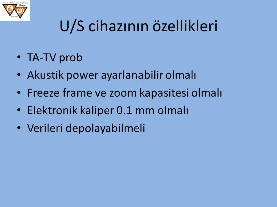 U/S cihazının özellikleri