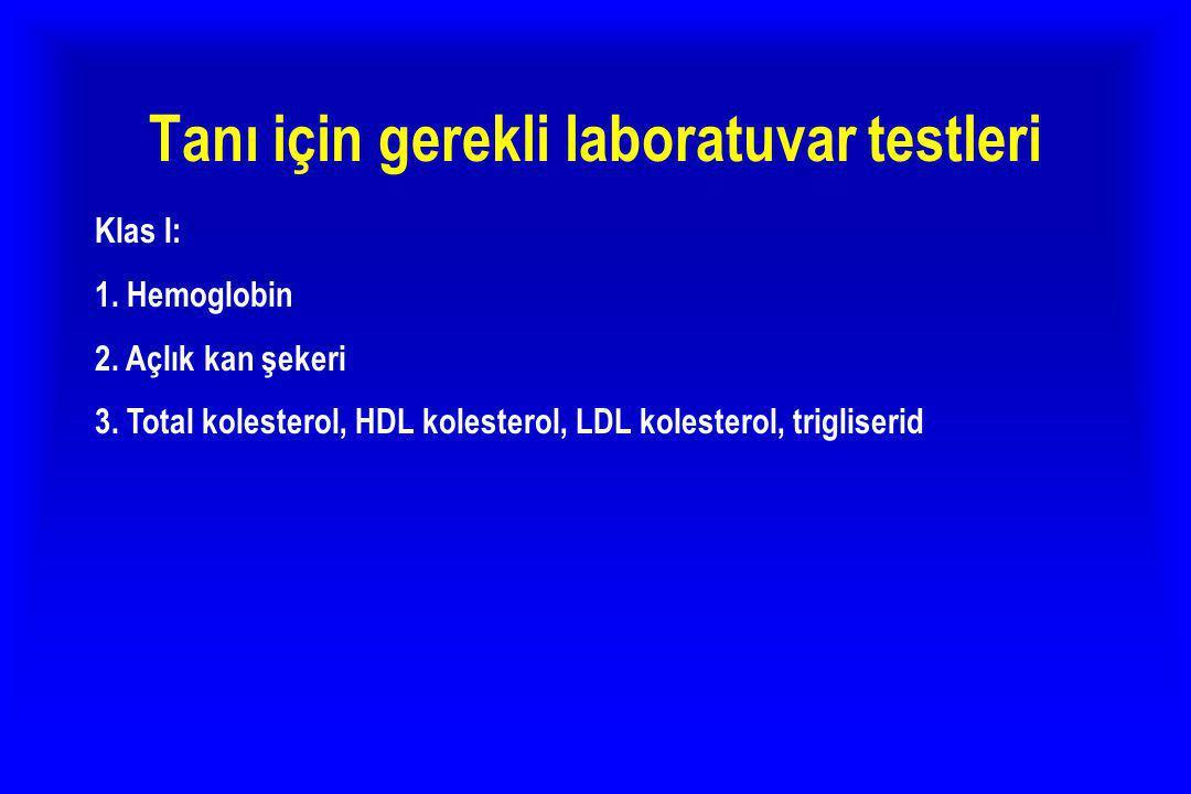 Tanı için gerekli laboratuvar testleri