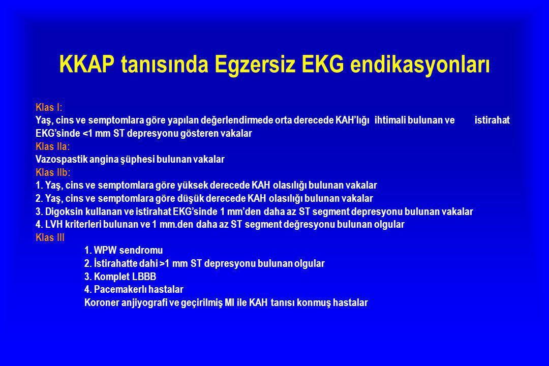 KKAP tanısında Egzersiz EKG endikasyonları