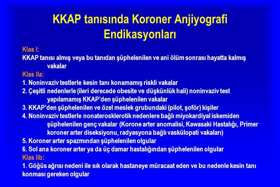 KKAP tanısında Koroner Anjiyografi Endikasyonları
