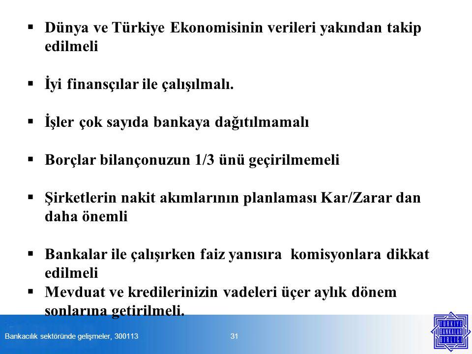Dünya ve Türkiye Ekonomisinin verileri yakından takip edilmeli