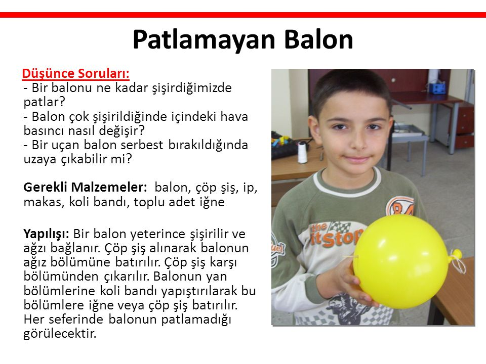 Patlamayan Balon