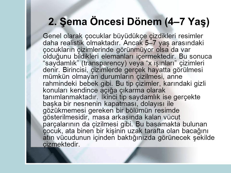 2. Şema Öncesi Dönem (4–7 Yaş)