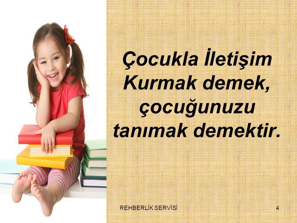 Çocukla İletişim Kurmak demek, çocuğunuzu tanımak demektir.
