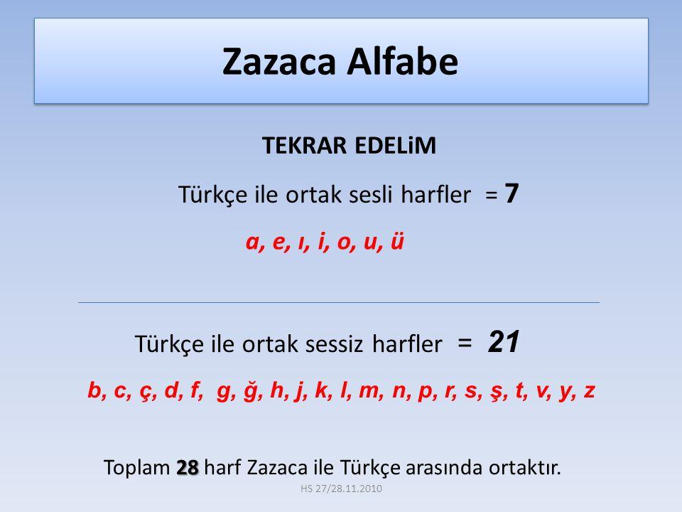 TEKRAR EDELiM Türkçe ile ortak sesli harfler = 7