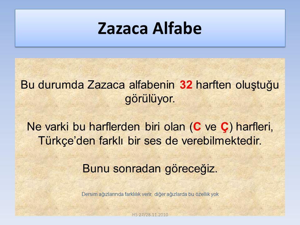 Zazaca Alfabe