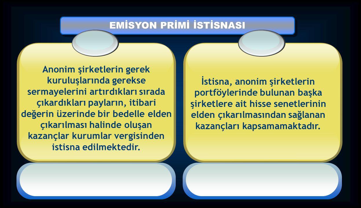 EMİSYON PRİMİ İSTİSNASI