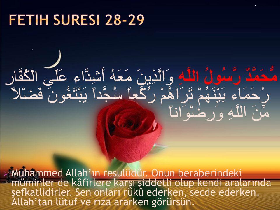 Fetih Suresi 28-29