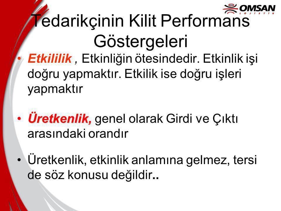 Tedarikçinin Kilit Performans Göstergeleri