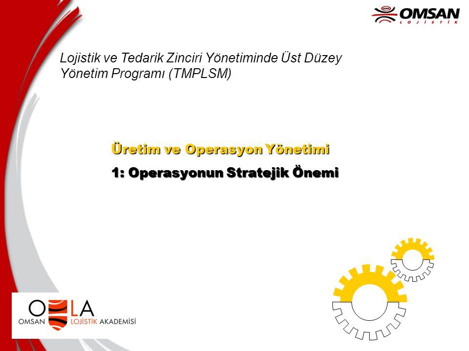Lojistik ve Tedarik Zinciri Yönetiminde Üst Düzey Yönetim Programı (TMPLSM)