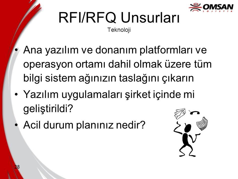 RFI/RFQ Unsurları Teknoloji