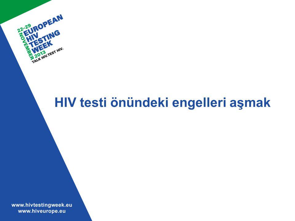 HIV testi önündeki engelleri aşmak