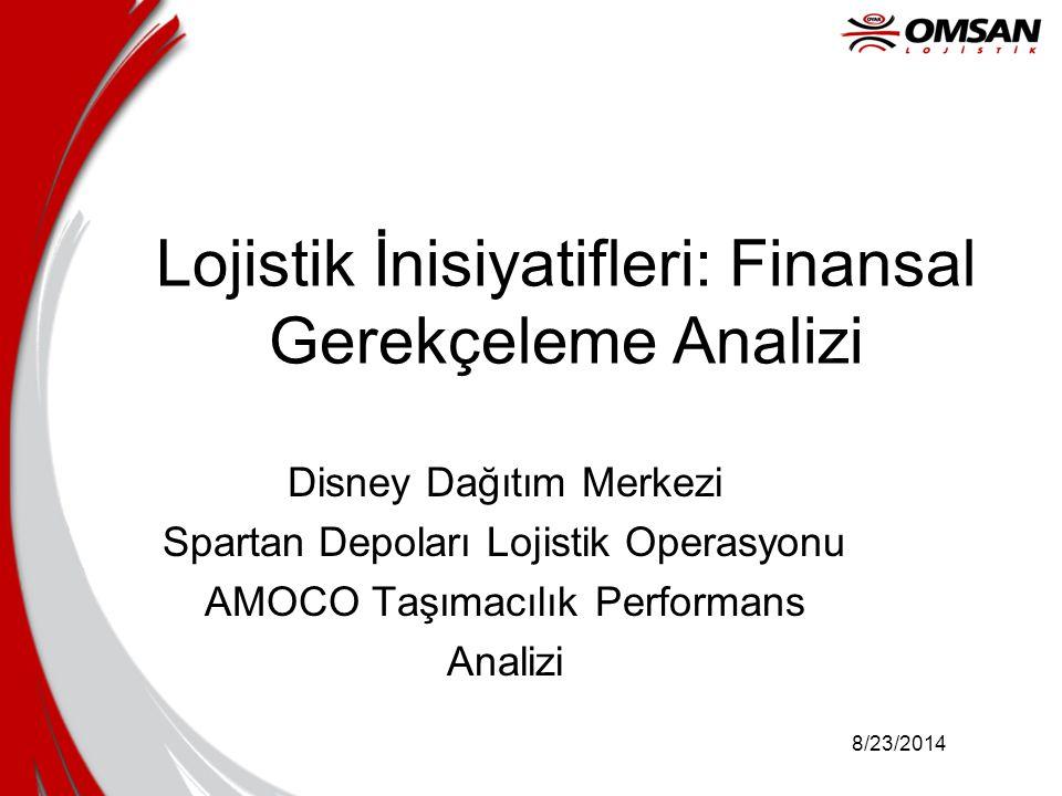 Lojistik İnisiyatifleri: Finansal Gerekçeleme Analizi