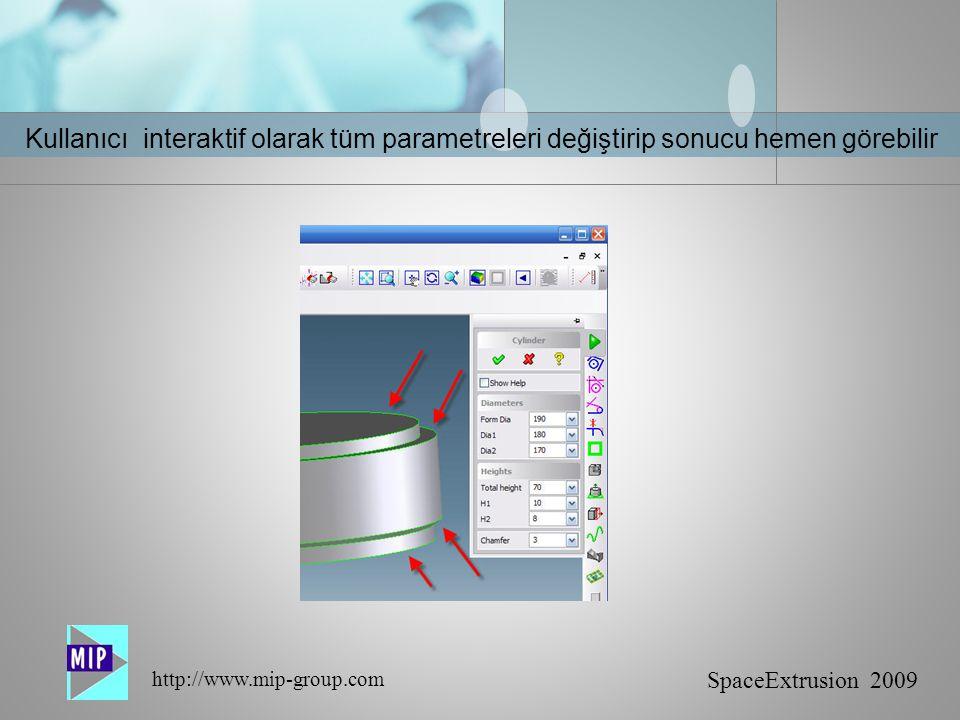 Kullanıcı interaktif olarak tüm parametreleri değiştirip sonucu hemen görebilir