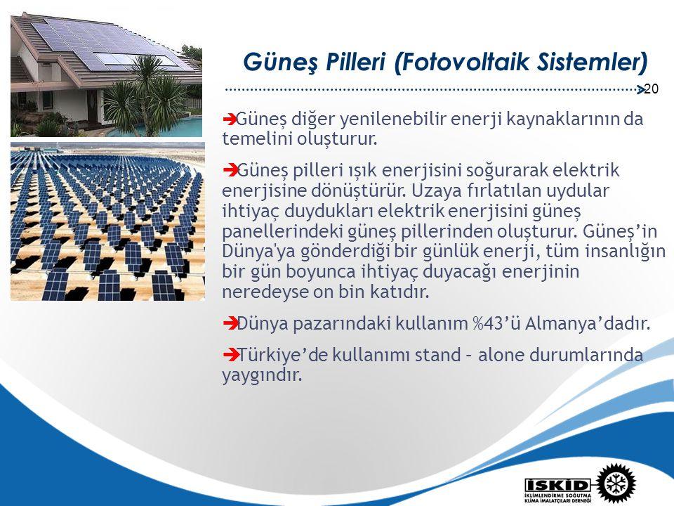 Güneş Pilleri (Fotovoltaik Sistemler)
