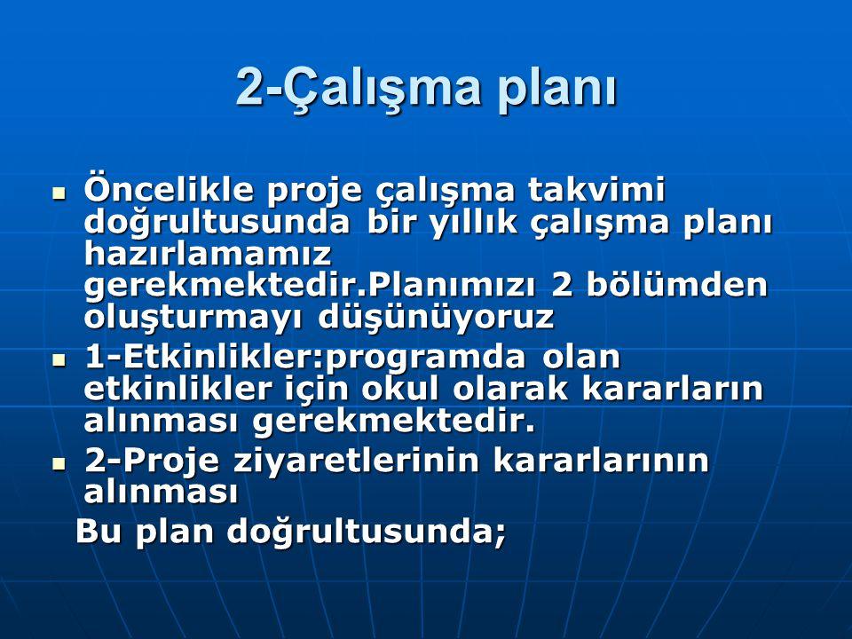 2-Çalışma planı