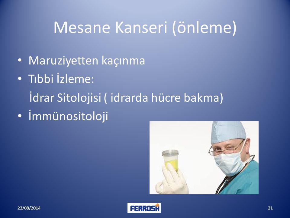 Mesane Kanseri (önleme)