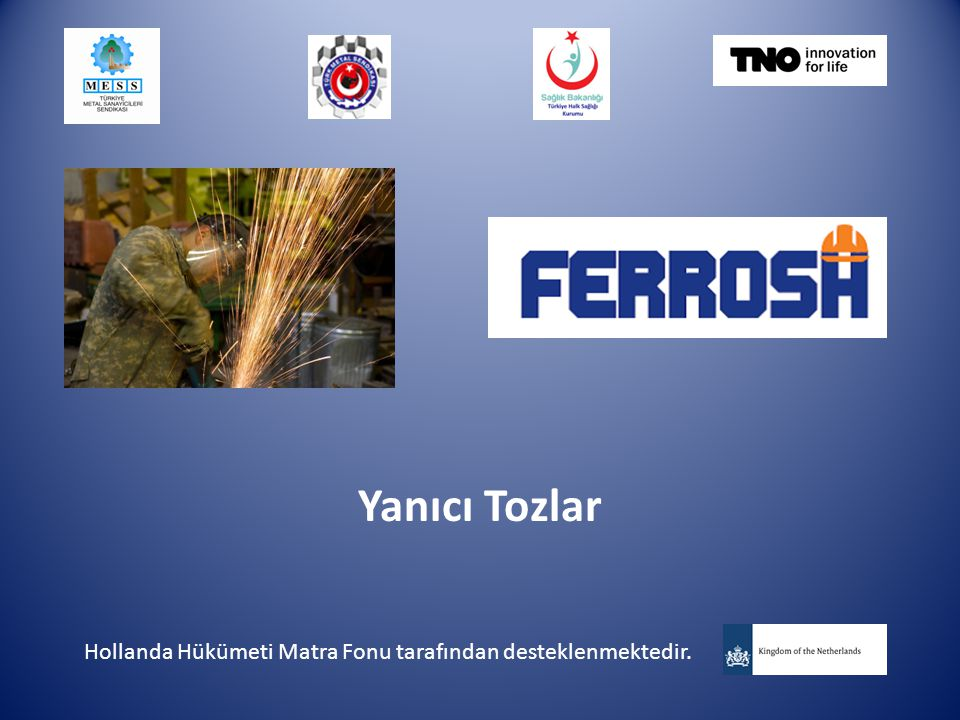 Yanıcı Tozlar Hollanda Hükümeti Matra Fonu tarafından desteklenmektedir.