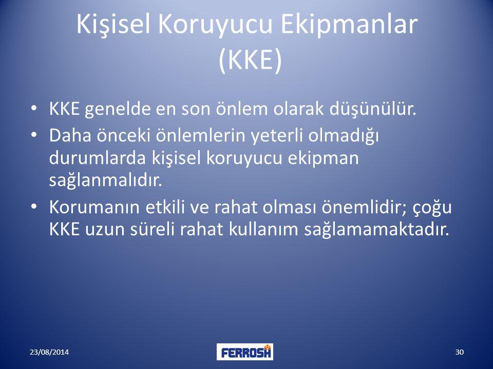 Kişisel Koruyucu Ekipmanlar (KKE)