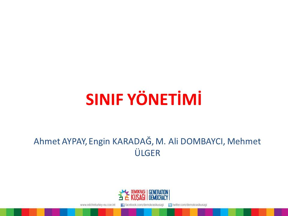 Ahmet AYPAY, Engin KARADAĞ, M. Ali DOMBAYCI, Mehmet ÜLGER