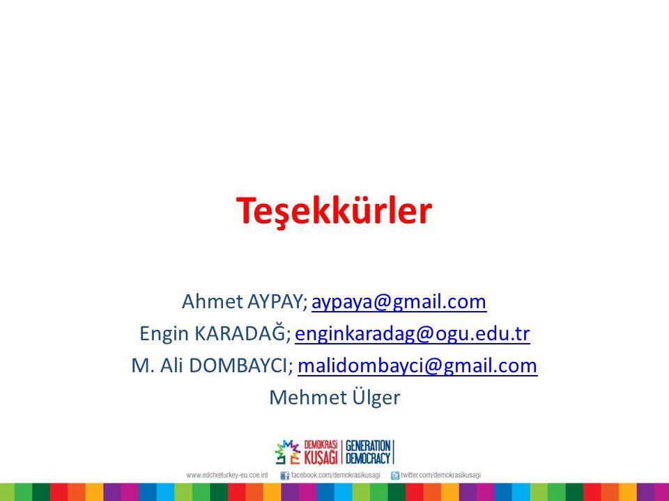 Teşekkürler Ahmet AYPAY; aypaya@gmail.com