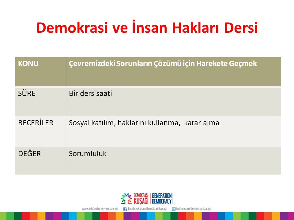 Demokrasi ve İnsan Hakları Dersi