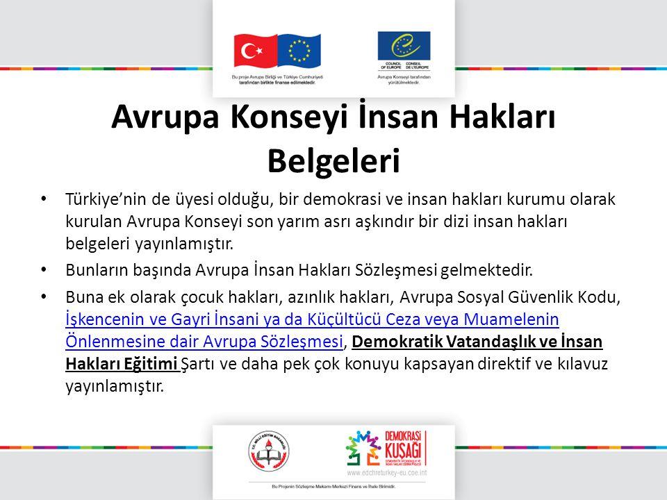 Avrupa Konseyi İnsan Hakları Belgeleri