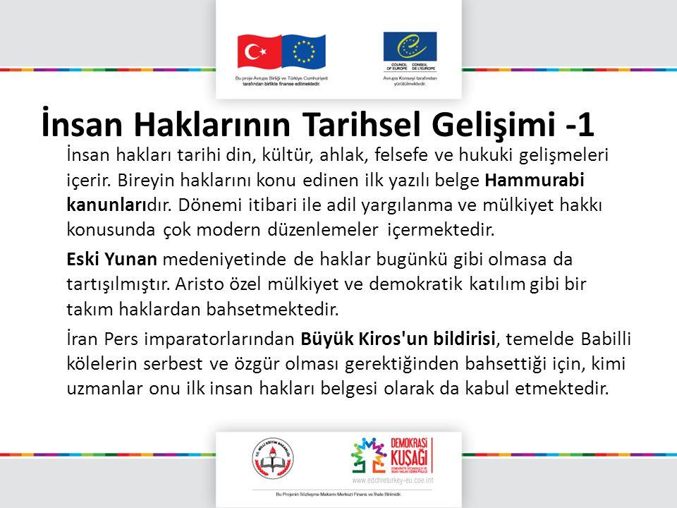 İnsan Haklarının Tarihsel Gelişimi -1
