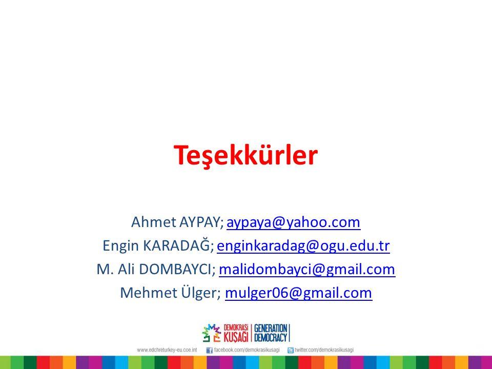 Teşekkürler Ahmet AYPAY; aypaya@yahoo.com