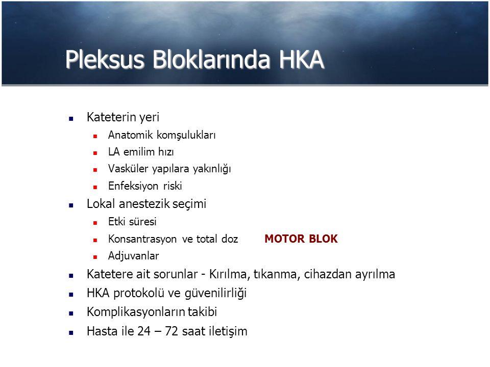 Pleksus Bloklarında HKA
