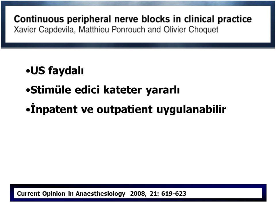 Stimüle edici kateter yararlı İnpatent ve outpatient uygulanabilir