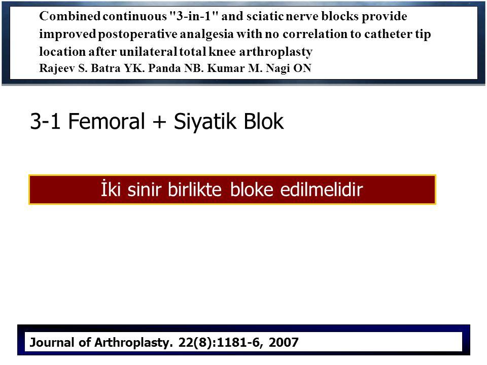 3-1 Femoral + Siyatik Blok