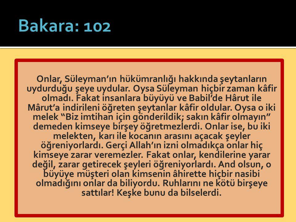 Bakara: 102