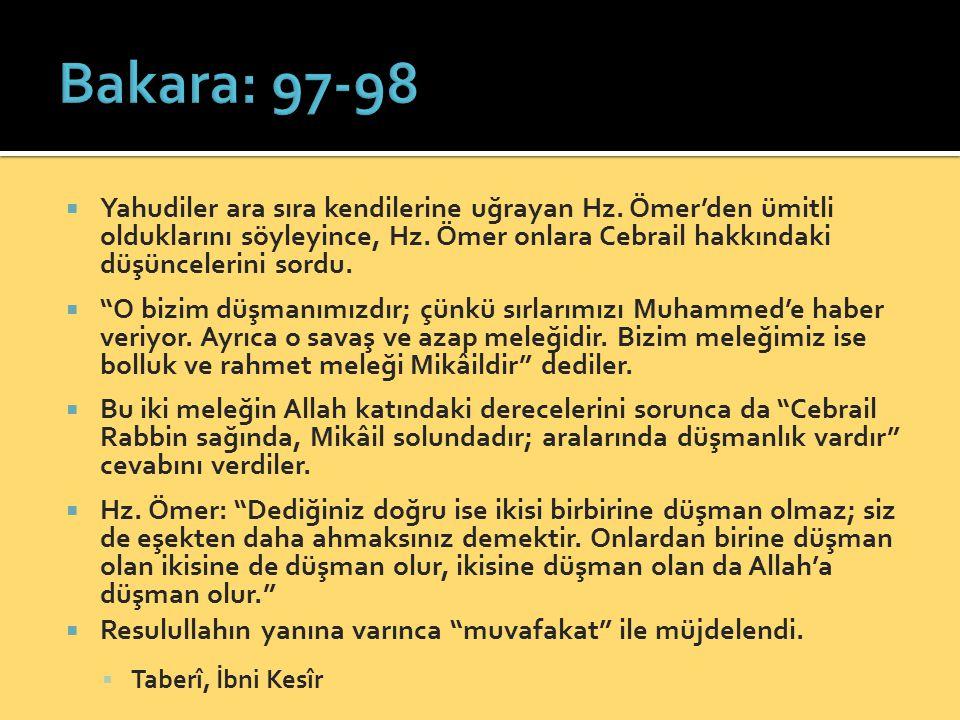 Bakara: 97-98