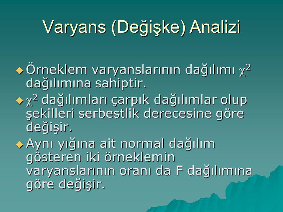 Varyans (Değişke) Analizi