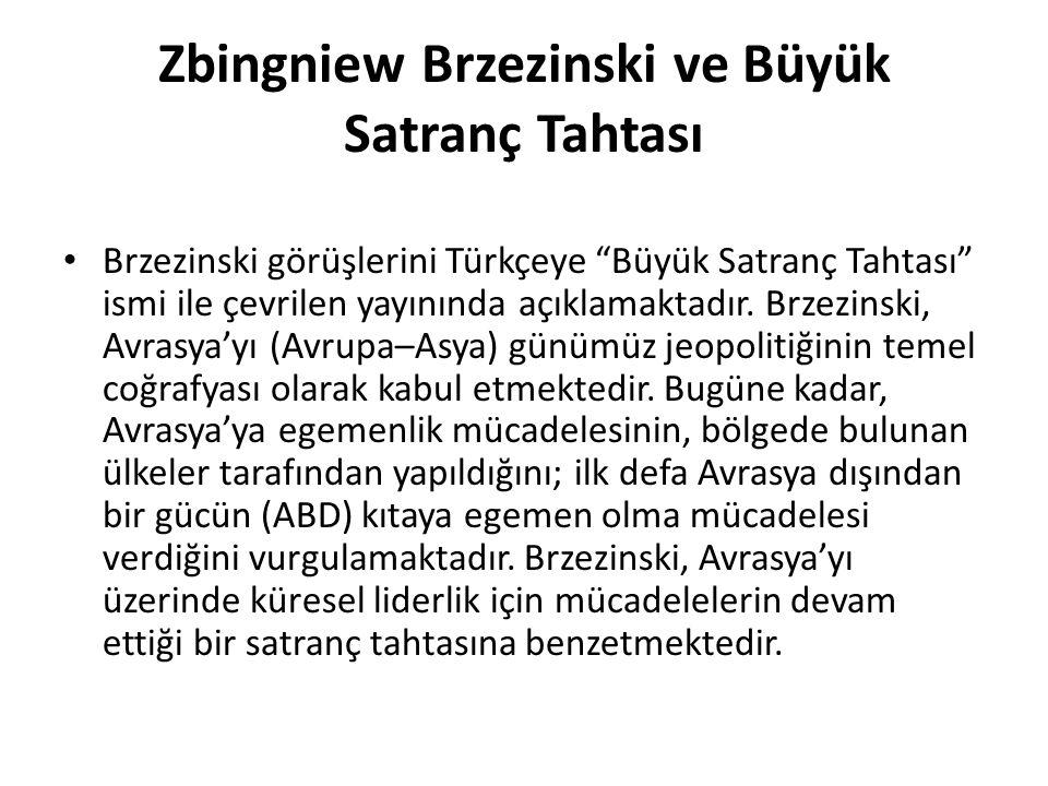 Zbingniew Brzezinski ve Büyük Satranç Tahtası