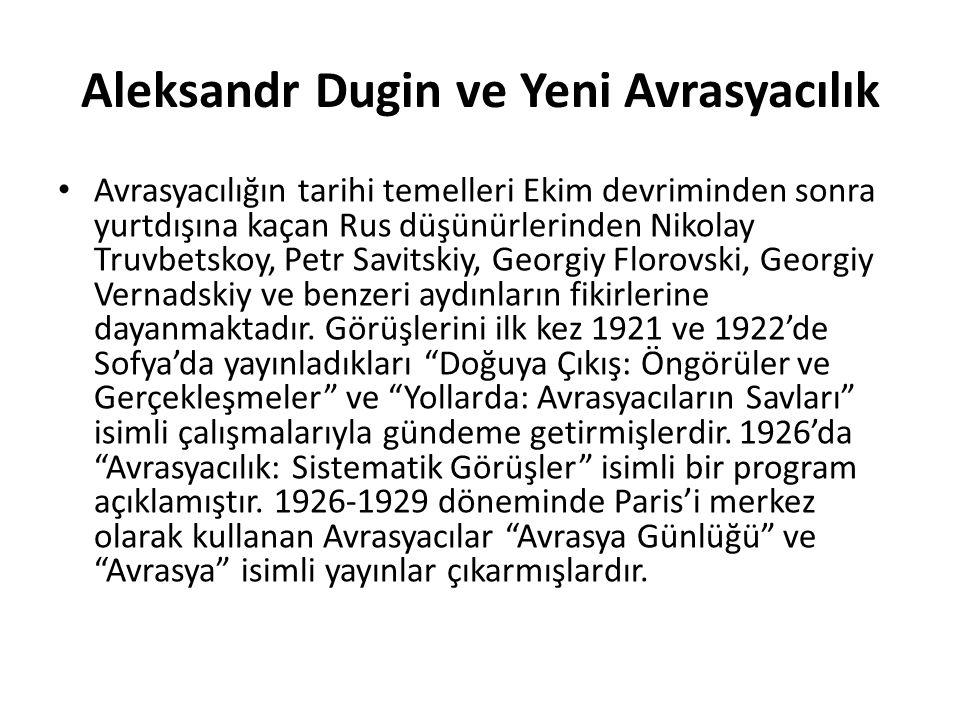 Aleksandr Dugin ve Yeni Avrasyacılık